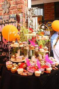 We celebrated out 6th birthday with cupcakes, bubbly and live music