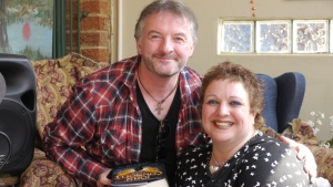This is yours truly with the very enigmatic John Connolly
