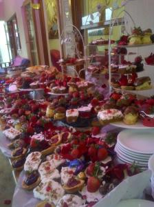 Dessert buffet style 80kms outside Jozi