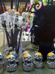We celebrated Halloween with loads of little evil goodies for sale