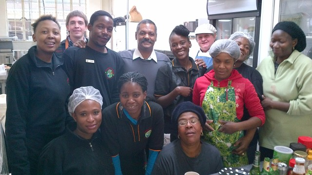 The Lollipops and Indulgence Crew with ex Bok coach Peter De Villiers