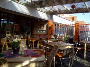 Our beautiful patio at Indulgence Cafe