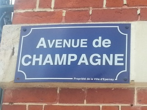 Amble down Ave. de Champagne in Epernay, France