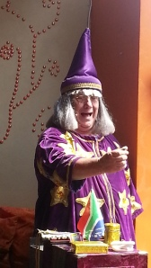 The Wacky Wizard doing his thing